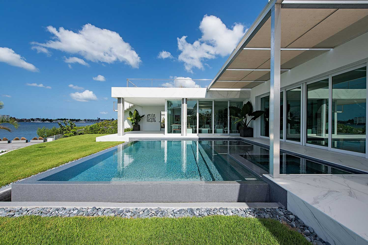 New modern home design in Naples FL exterior photo